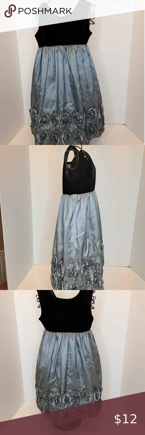22nd Street Black Silver Taffeta Dress Size 4t Dresses Youth Jumpsuits For Girls Gap Sweater Dress [ 1740 x 580 Pixel ]