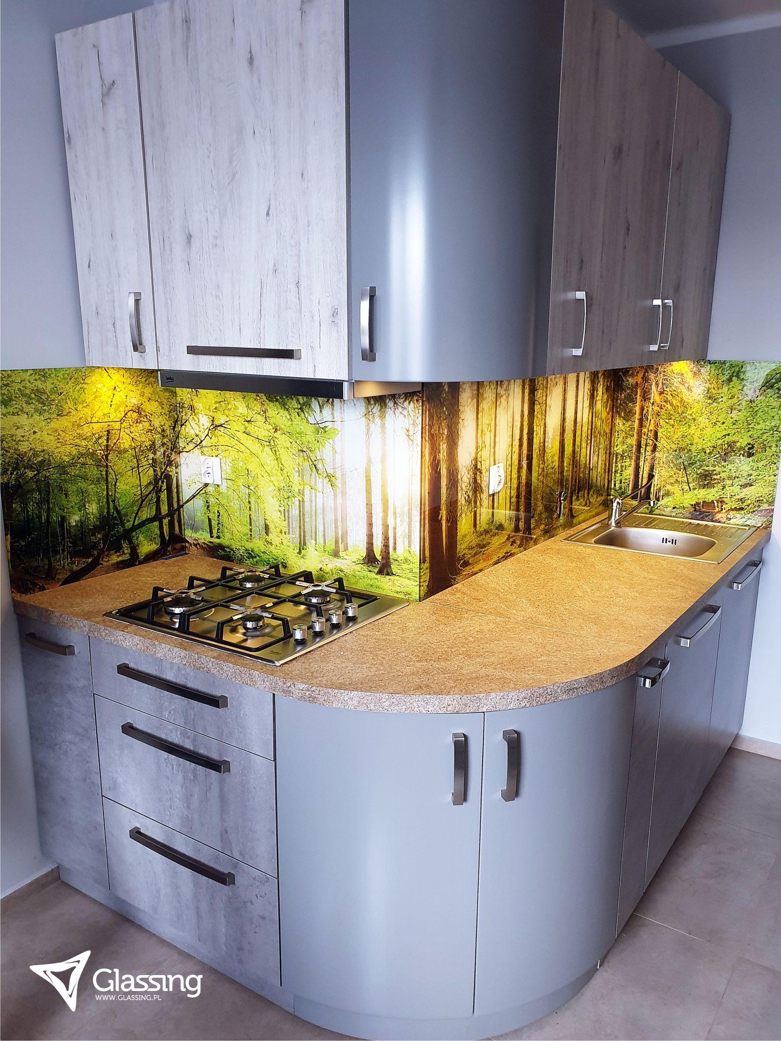 Panele Szklane Kuchenne Panorama Motyw Lesny Las Sloneczny Krajobraz Natura Dekoracja Kuchni Kitchen Decor Home