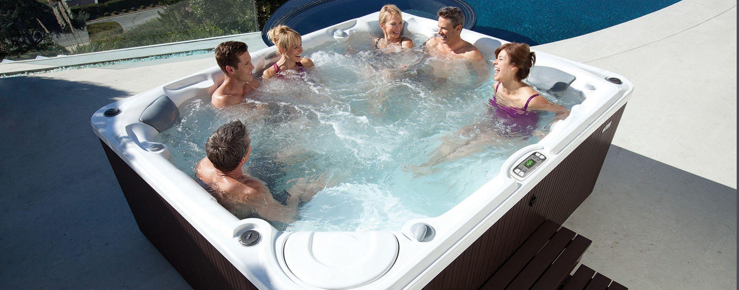 8 Person Large Hot Tub Gleam | Hot Spring Spas | Spas | Pinterest ...