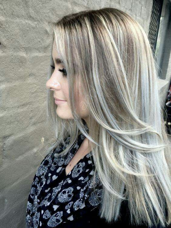 Mechas en tono beige y cenizo mechas beige y mechas for Como hacer el color gris perla