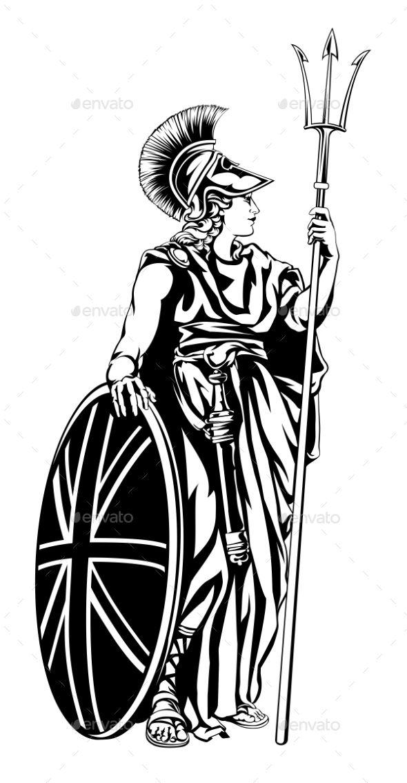 Illustration Of Britannia, Personification Of Britain