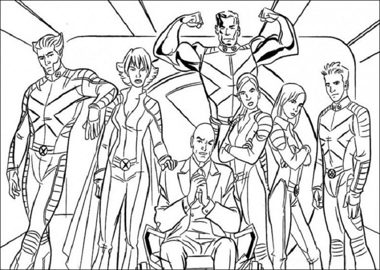 X Men Coloring Pages Free Check more at http://coloringareas.com ...