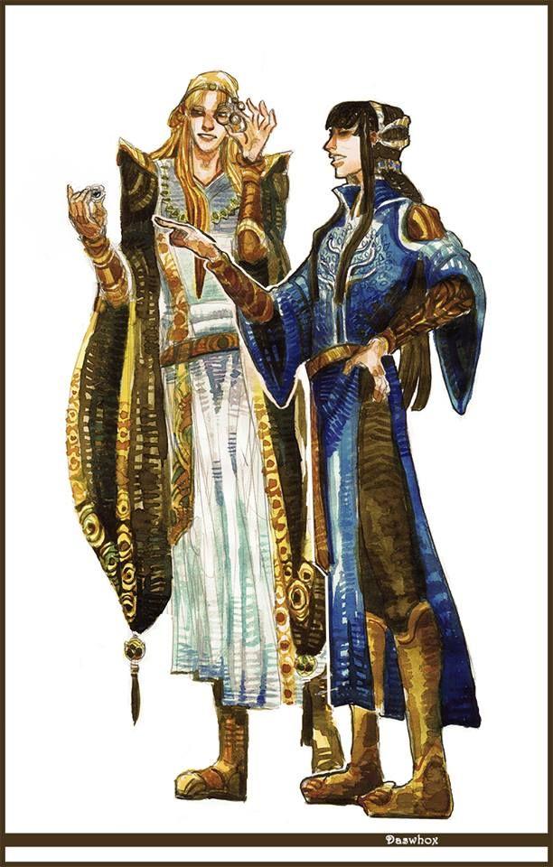 Concept art/ Annatar Celembrimbor Silmarillion.