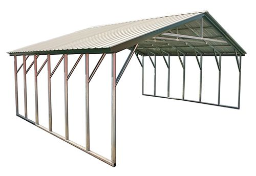 18x21 Vertical Metal Carport Ct Ma De Dc In Md Nj Ny Oh Pa And Ri Metal Carports Portable Carport Metal Pergola Diy
