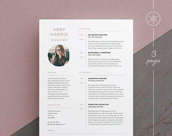 amanda resume cv template word photoshop indesign
