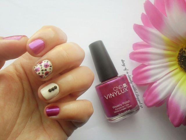 CND VINYLUX Magenta Mischief : Spring Nail Art by Eleftheria Siatira ...