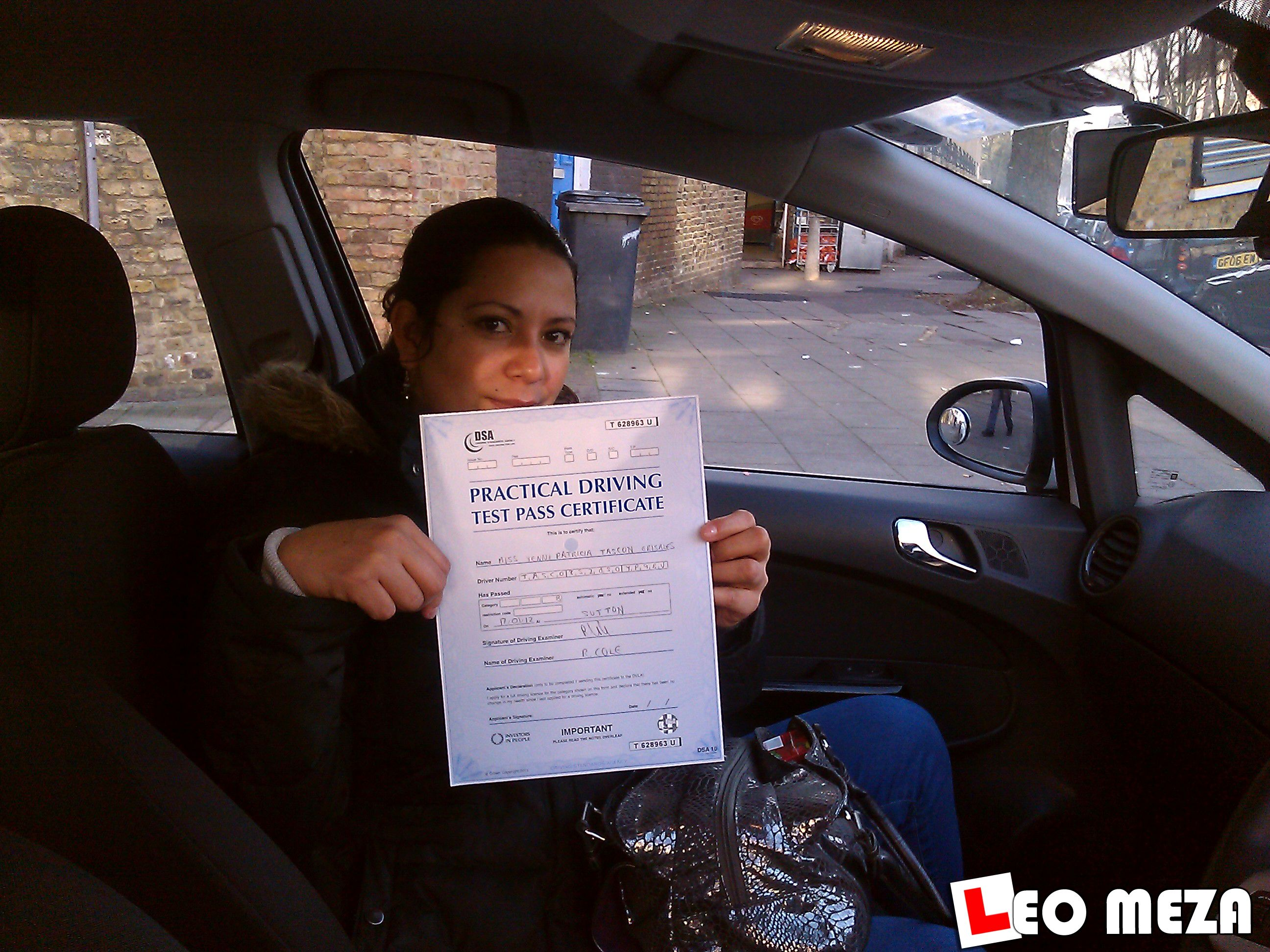 Well done to ►► YENNY ◄◄ for passing her driving test at Morden T.C