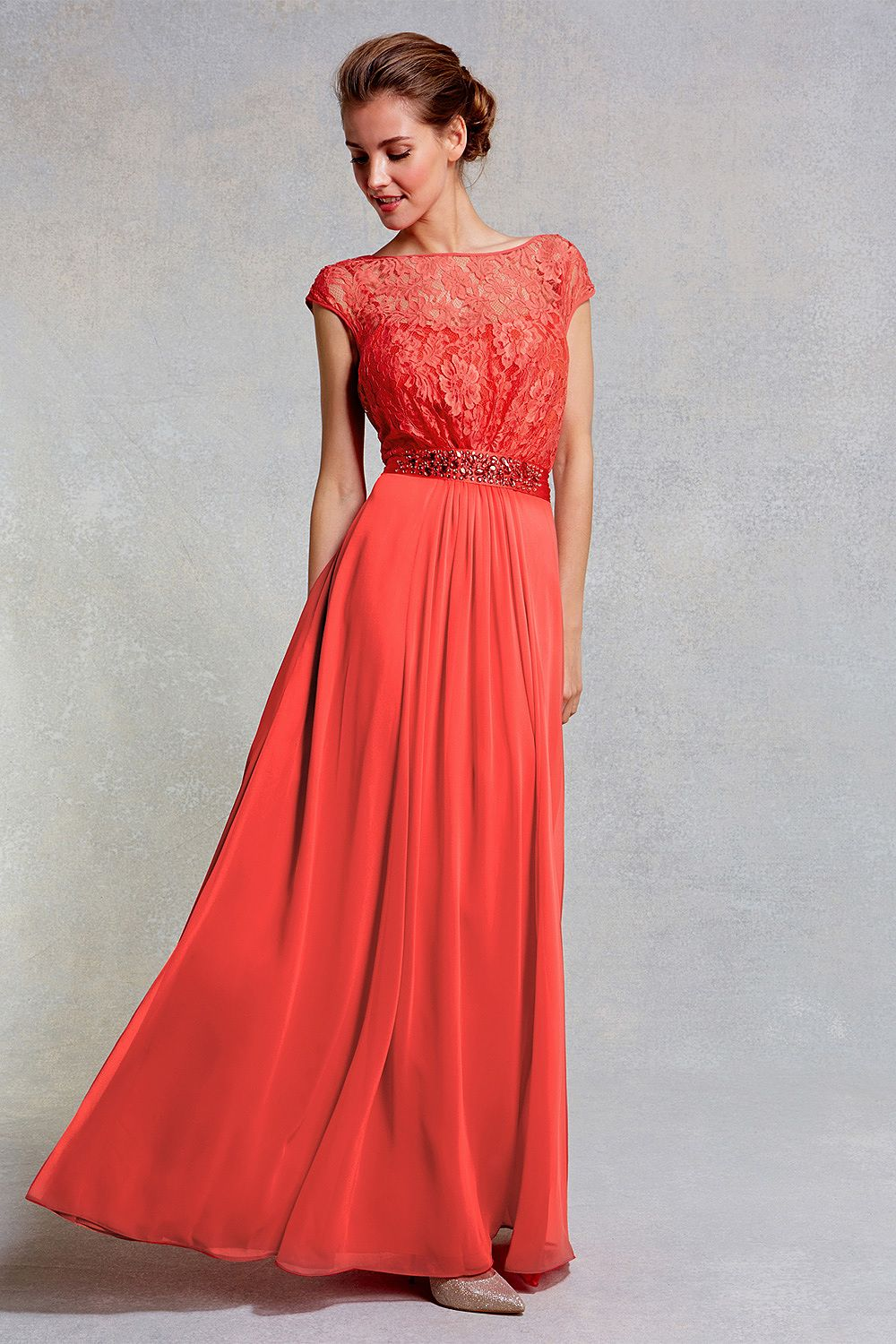 Womens coral red lori lee lace maxi dress sl from Coast - £185 at ...