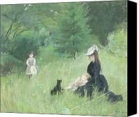 In A Park Painting by Berthe Morisot - In A Park Fine Art Prints and Posters for Sale
