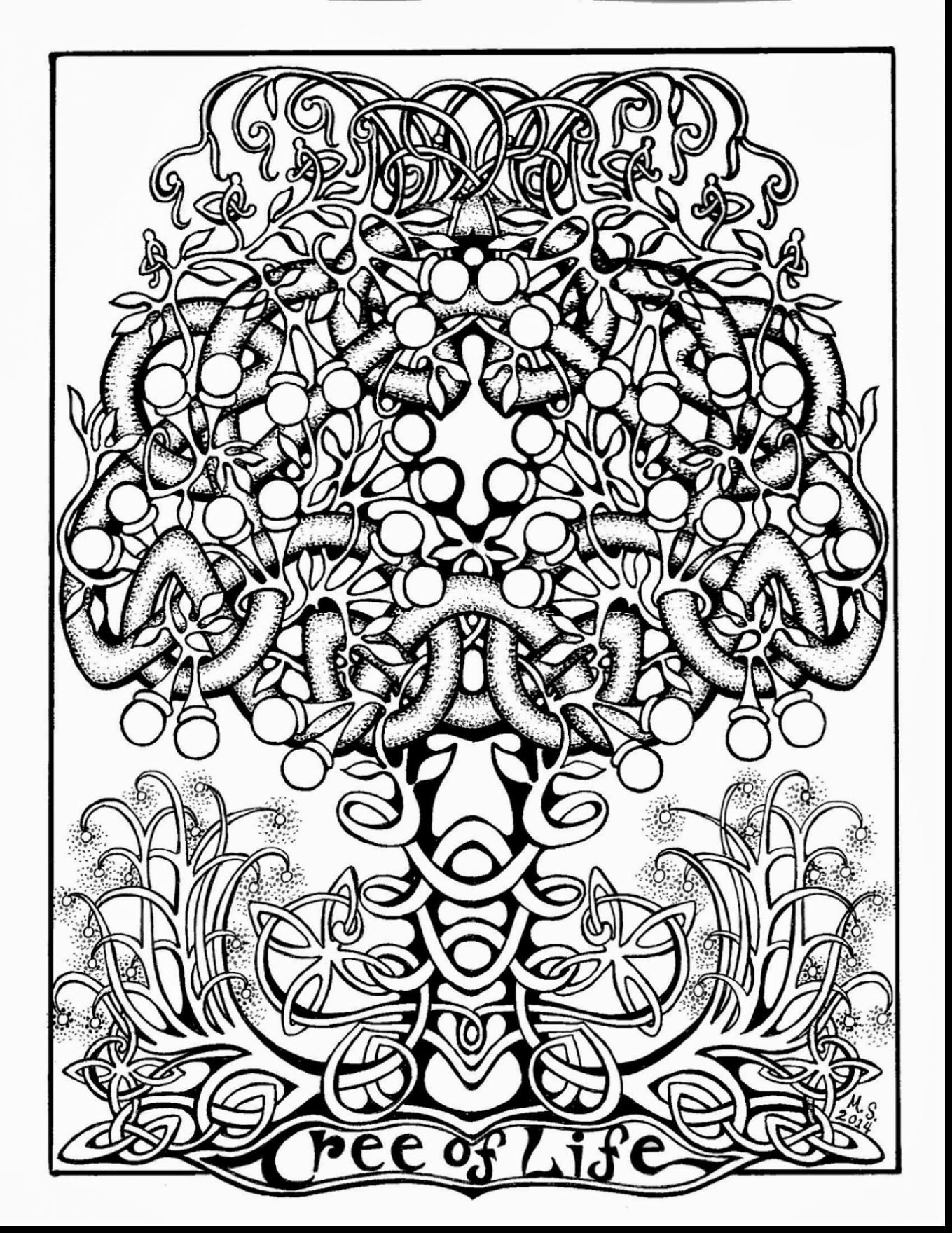Good Adult Tree Of Life Coloring Page With Celtic Coloring Pages