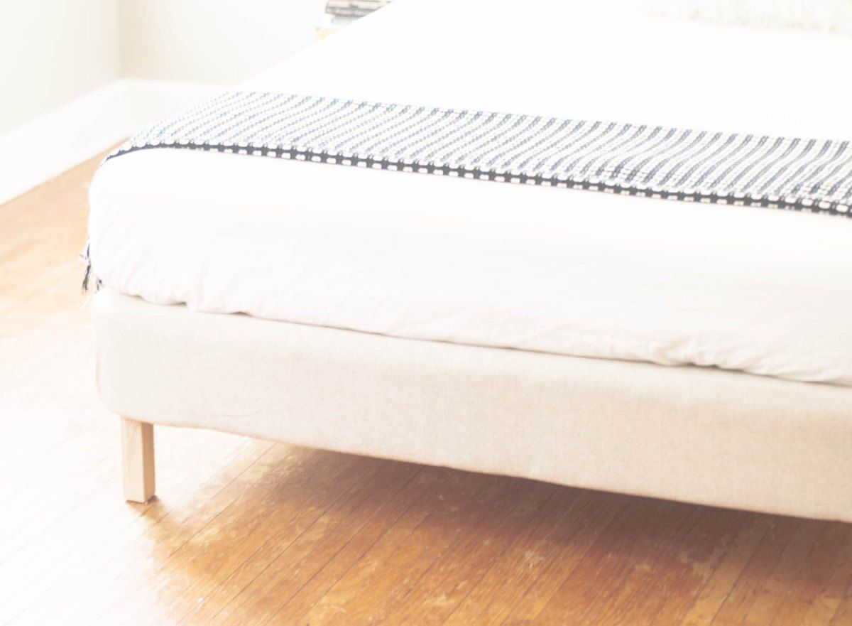 DIY upholstered bed frame from a box spring | Tool Time! | Pinterest ...