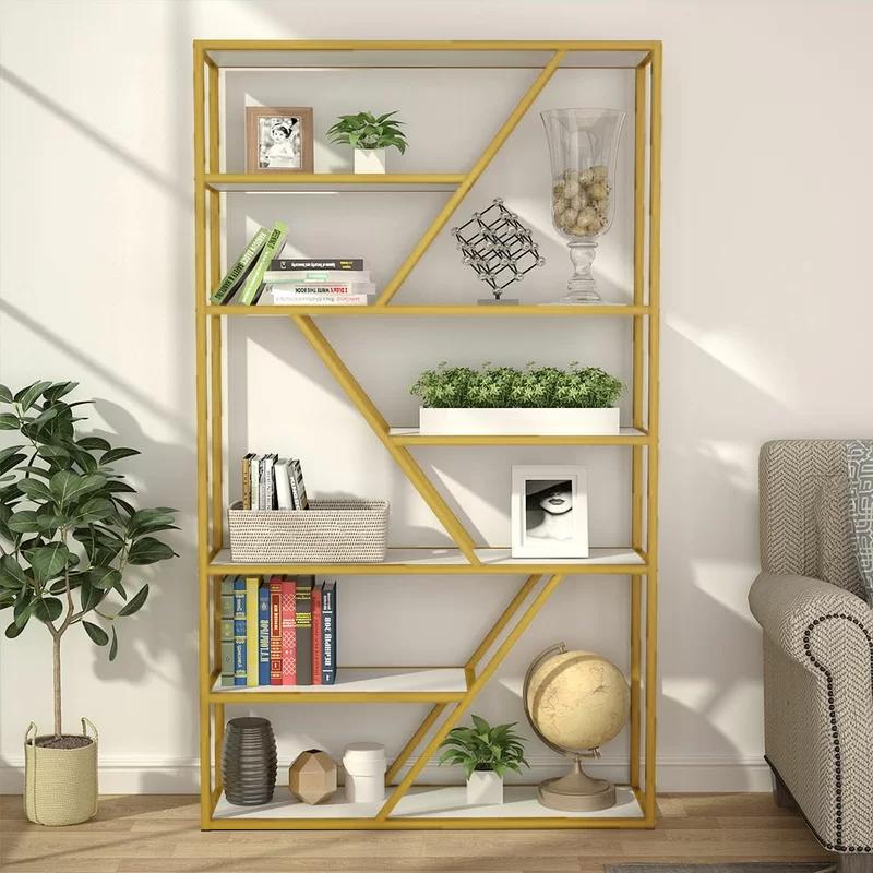 Adalrik Etagere Bookcase Etagere Bookcase Open Bookshelves Display Shelves