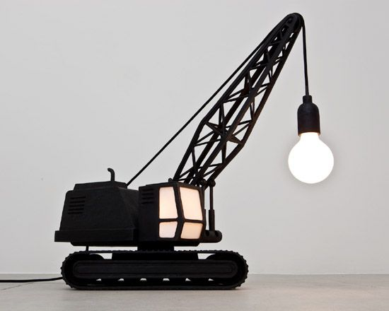Creative design: wrecking ball and crane lamp 6 pics for the