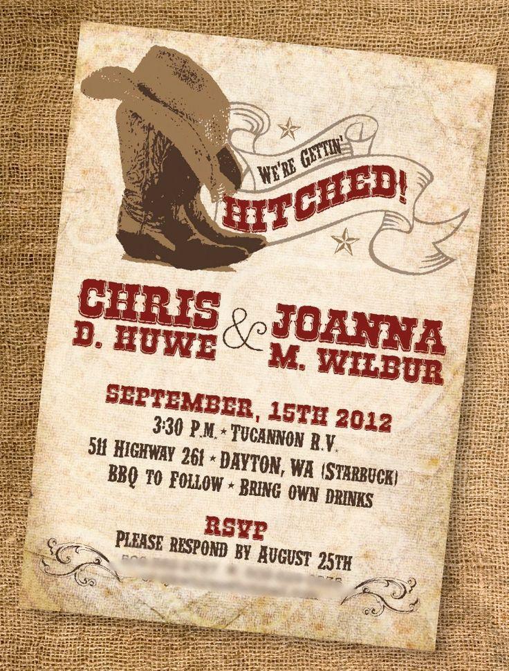 Western Wedding Invitations | ... Western Wedding Invitation ...