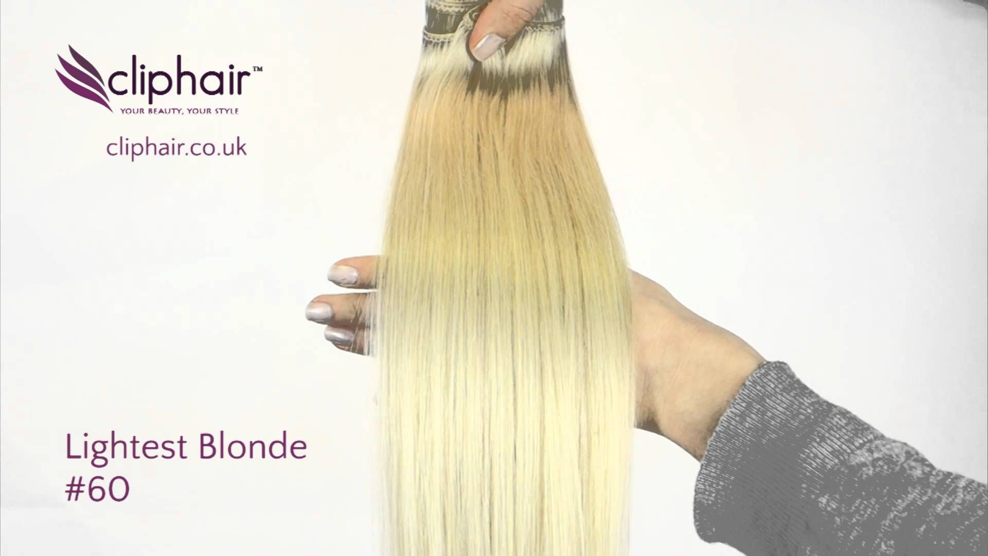 Shade Lightest Blonde 60 100 Real Human Hair Extensions From