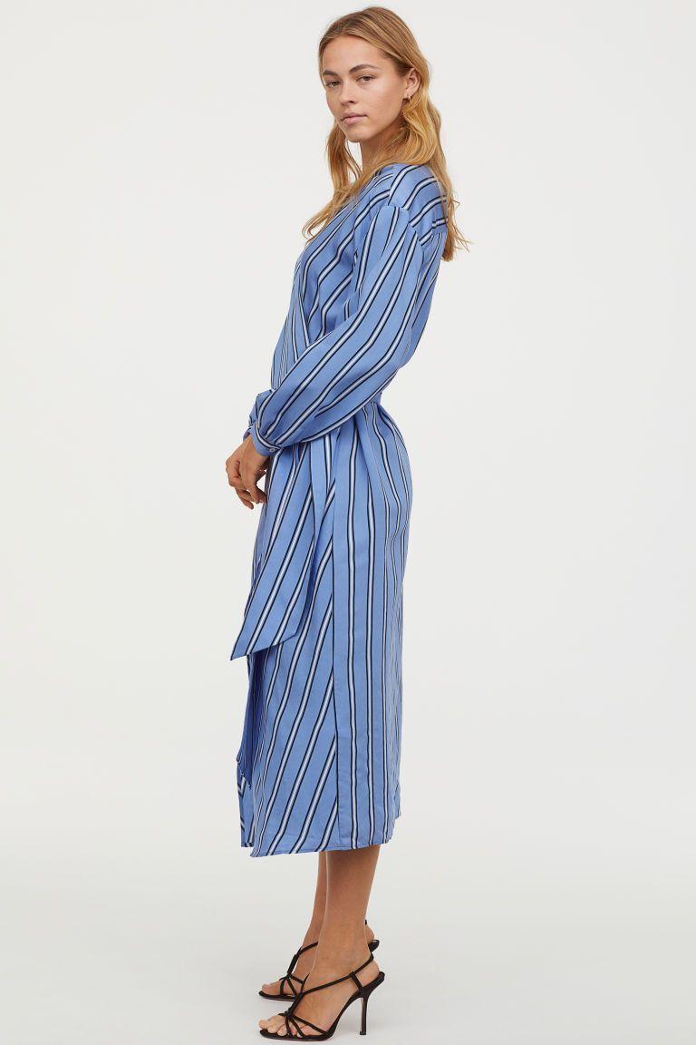 Femme en Contraste à nouer à la taille Femmes Boutonné Veste Chemise À Col Robe Top
