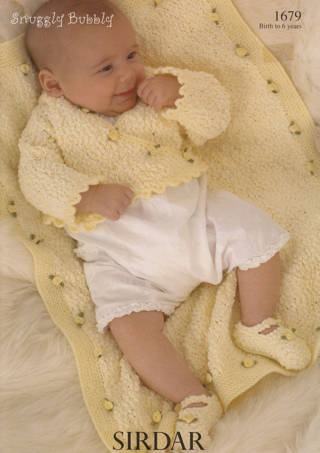 Baby cardigan blanket shoes knitting pattern sirdar snuggly baby cardigan blanket shoes knitting pattern sirdar snuggly bubbly 1679 knitting pattern bankloansurffo Image collections