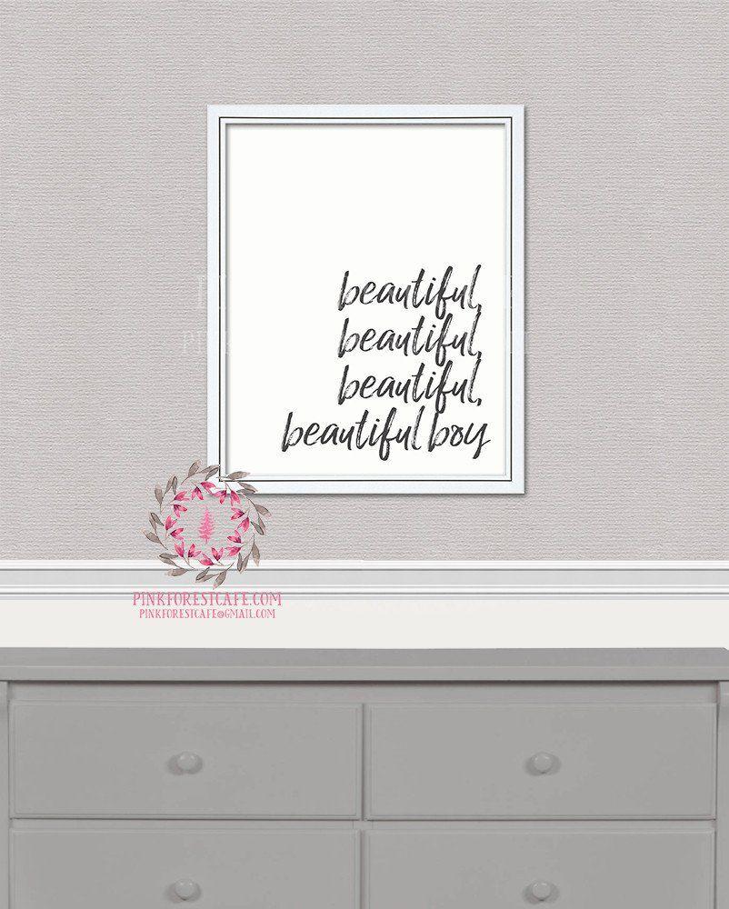 Beautiful Boy John Lennon Lyrics Quote Printable Wall Art Print Baby