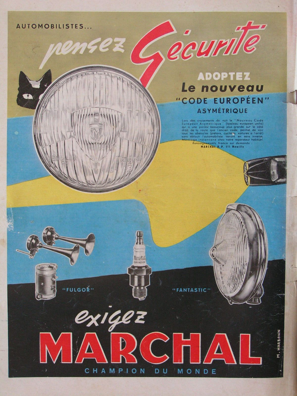 MARCHAL French advertisement