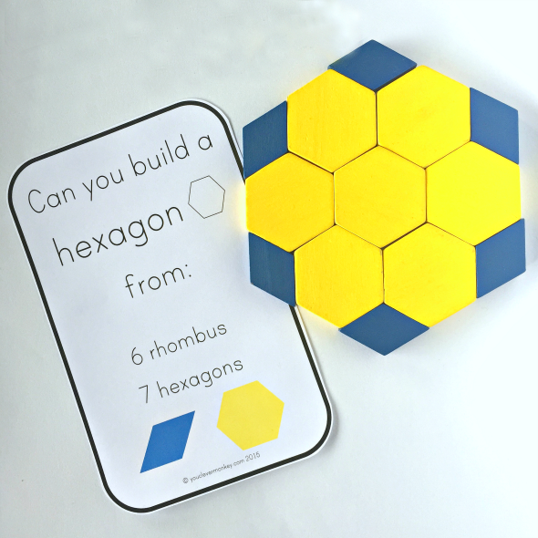2d Shape Pattern Block Challenge Cards Math Patterns Math
