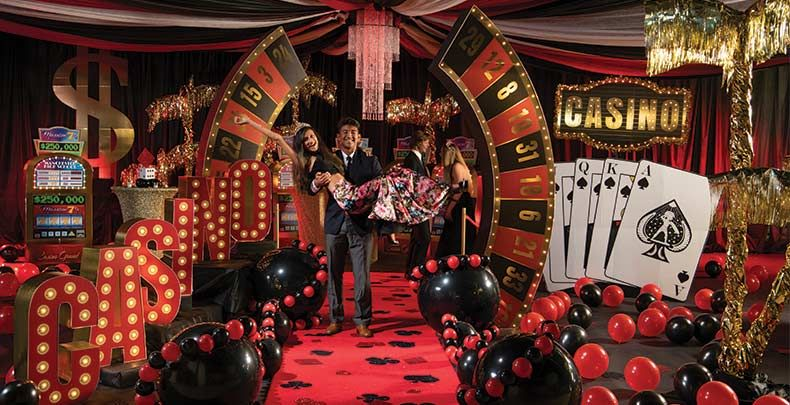 Casino Themed Prom - Prom Casino Night - Stumps | Casino night party, Casino theme party decorations, Casino party games