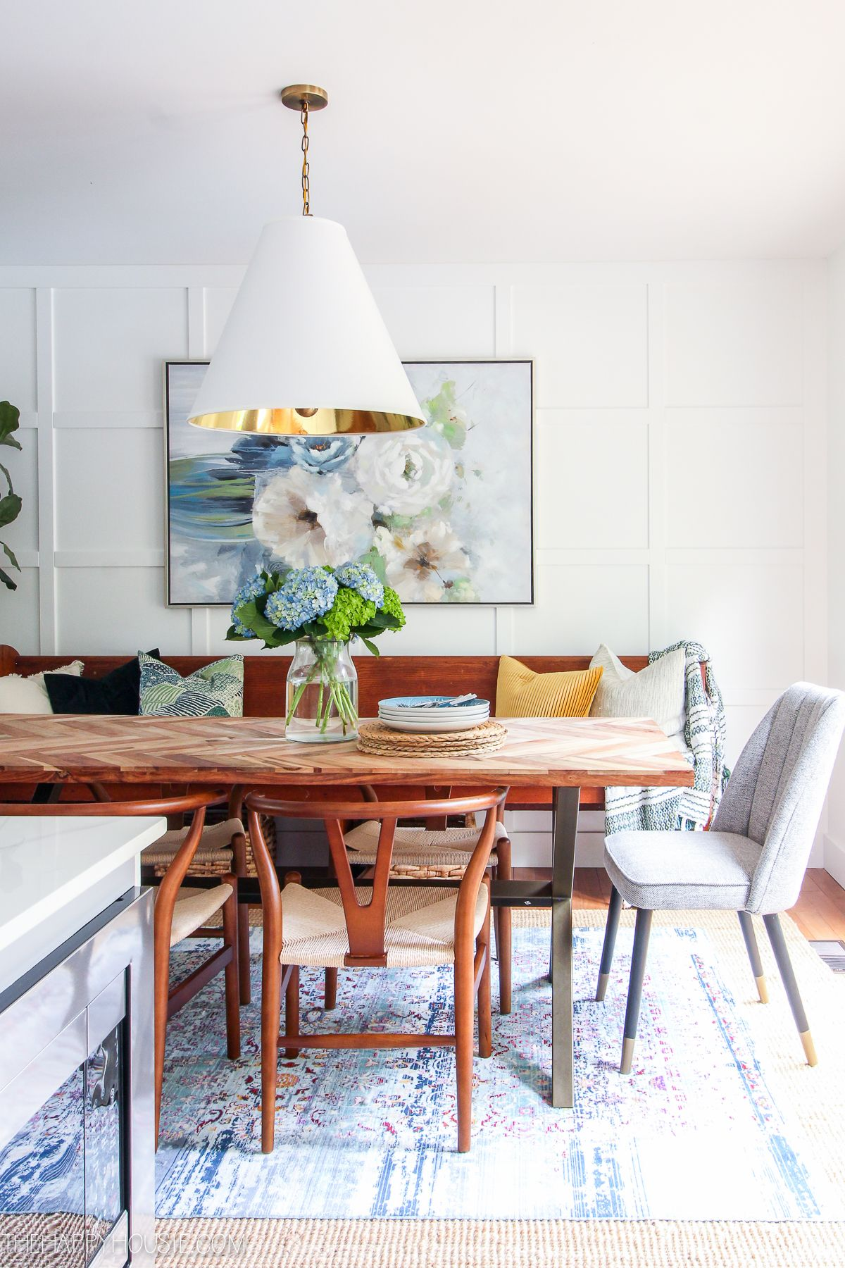 modern boho farmhouse dining room before after makeover reveal source guide farmhouse on boho chic kitchen table decor id=14952