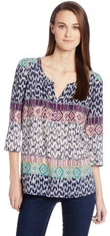 461618a3f157 Plenty by Tracy Reese Women's Peasant 3/4 Sleeve Printed Kurta Shirts