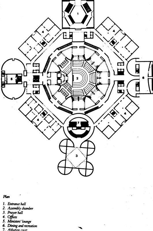 Dacca Parliament Building Plan