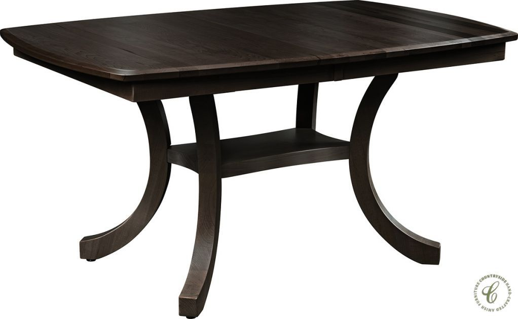 Iconic Furniture Boat Shaped Pedestal Dining Table 48 60 X 36
