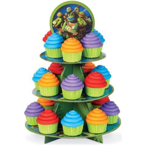 Teenage Mutant Ninja Turtles Cupcake Stand Party City Ninja Turtles Birthday Party Ninja Turtle Cupcakes Turtle Party