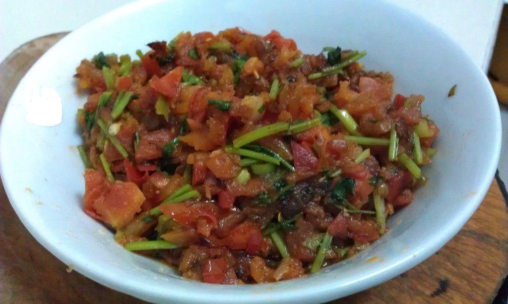Shrimp Chutney Satini Chevrette A Dish From The Island Of