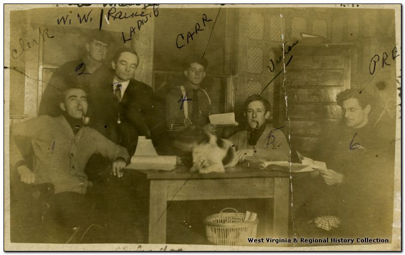 Dr. Ladwig and mill managers at Evenwood, W V