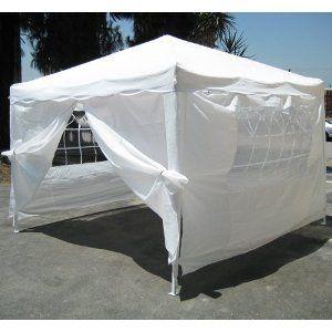 New White 10 X 10 Ez Pop Up Canopy Gazebo Tent With 4 Sidewalls Gazebo Tent 10x10 Canopy Tent Gazebo