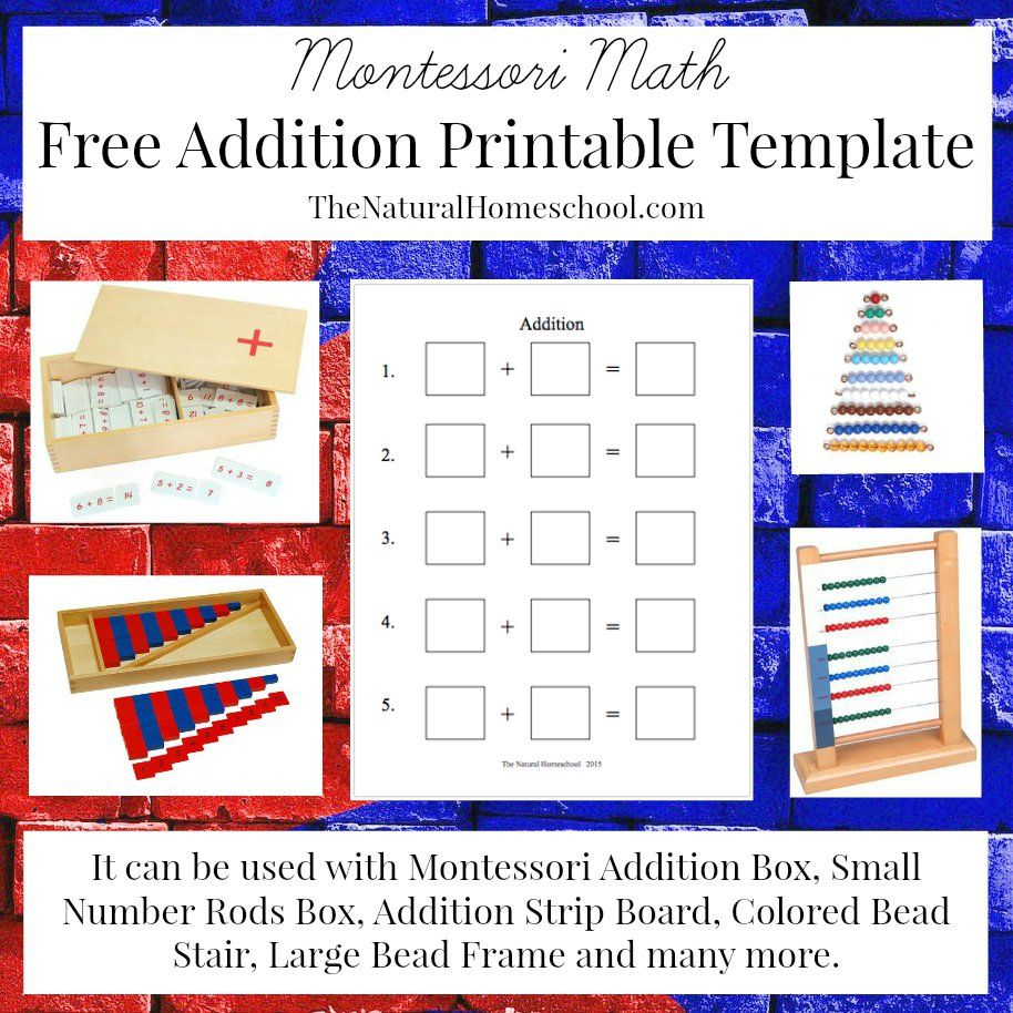 Montessori Math Lessons for Addition {Free Printables