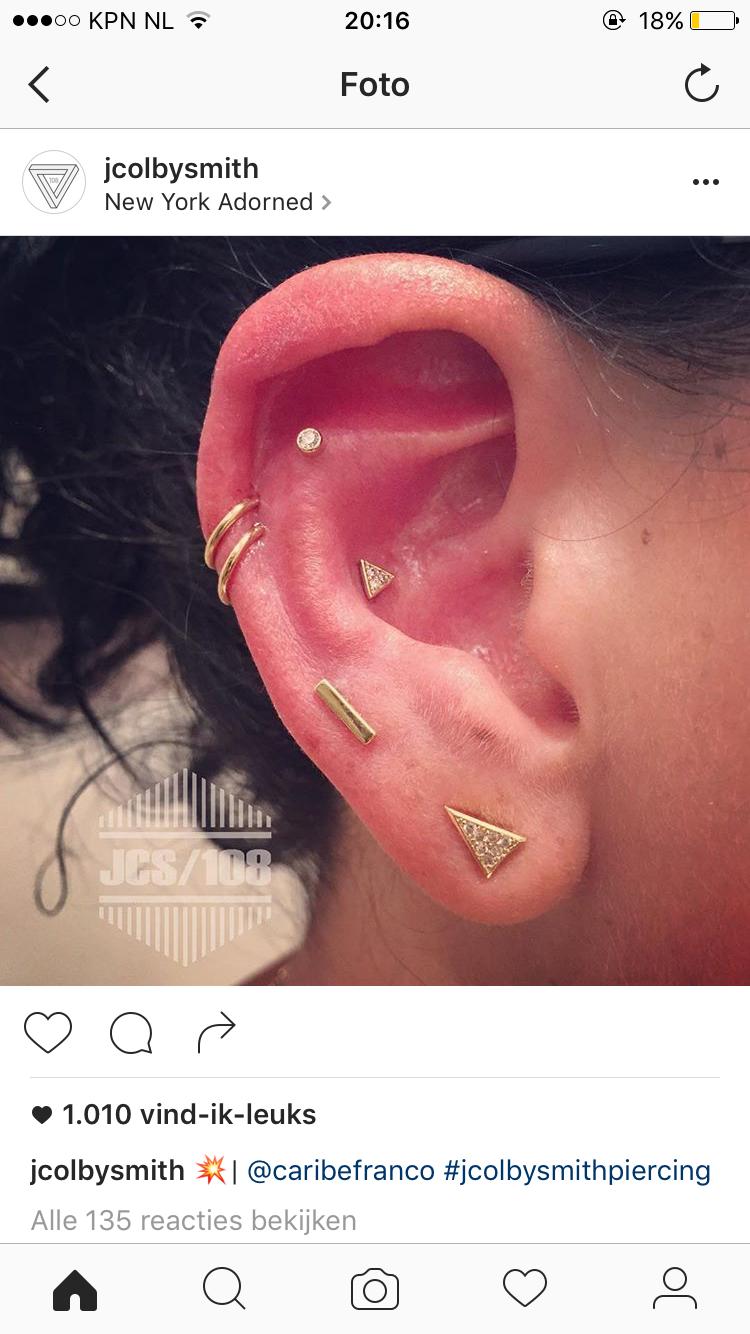 Piercing ideas body  Pin by Bente on Ear party  Pinterest  Ear piercings and Jewel