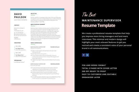 Best Font For Professional Resume Custom Best Maintenance Supervisor Resume Creativework247  Fonts Graphics .