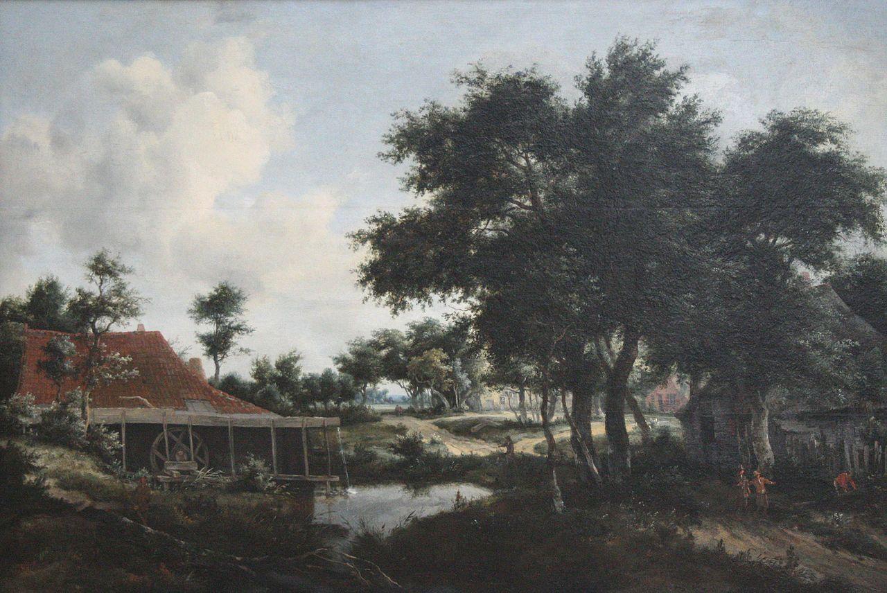 Meindert Hobbema - Een watermolen #1