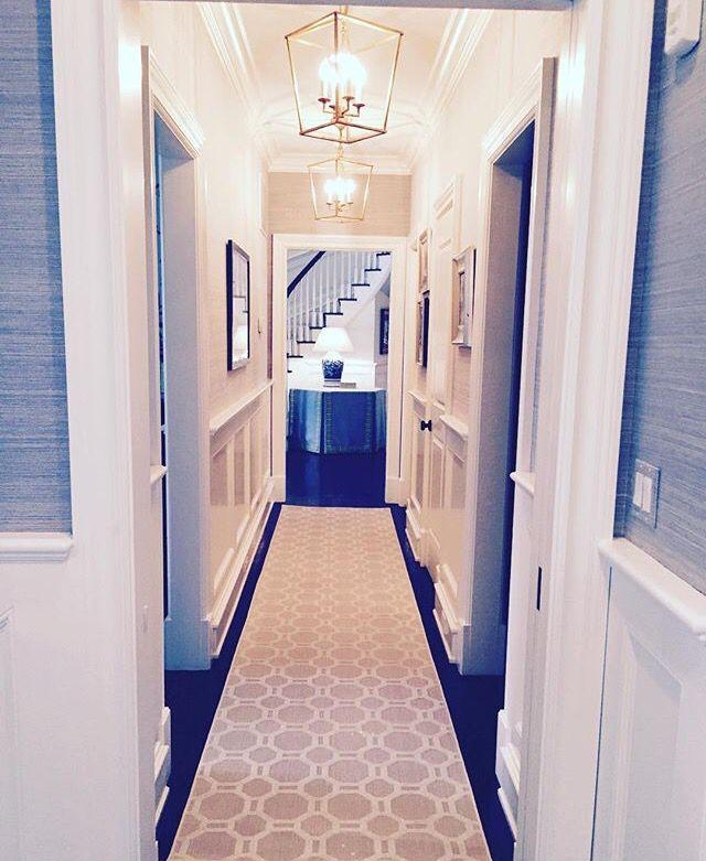 Entryway Wallpaper Ideas: Grass Cloth In Hallway