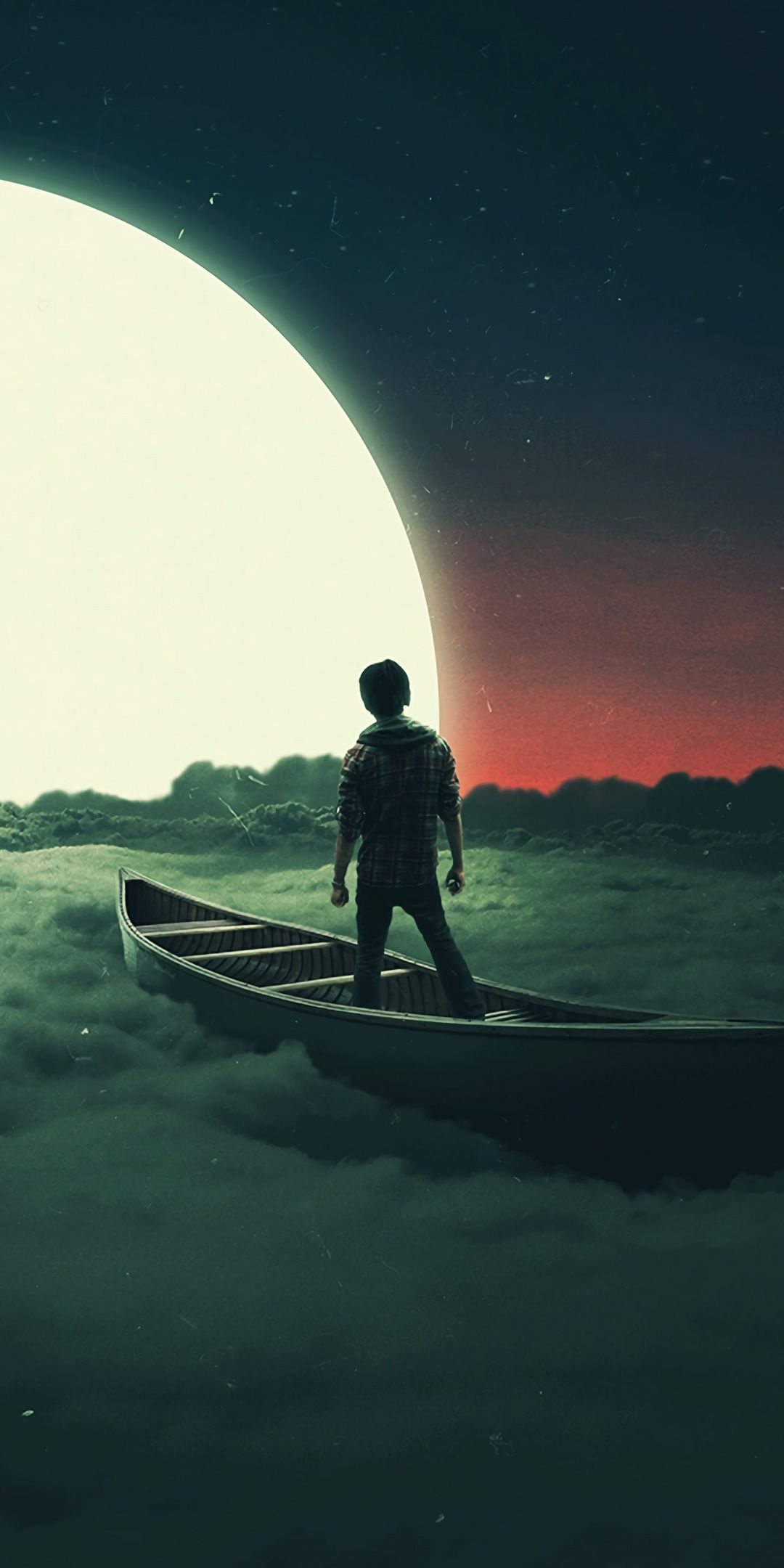 Sail To The Moon Clouds Boat Art 1080x2160 Wallpaper Scenery Wallpaper Beautiful Wallpapers Backgrounds Surreal Art