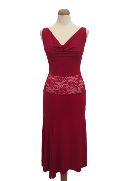 56af99cef807 Red Tango Dress with Lace & Tulle   Sexy Tango Dresses - conDiva  #tangodress #womens #argentinetango #milonga #milonguera #tangoclothes  #dancewithcondiva ...