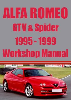 alfa romeo gtv spider workshop manual 1995 1999 automotive info rh pinterest com alfa spider manual download alfa romeo spider 2000 workshop manual