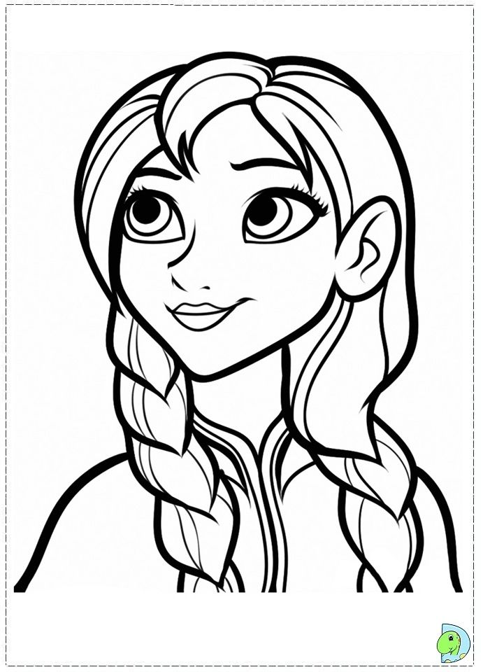 Princess Anna Frozen Coloring Page #008 http