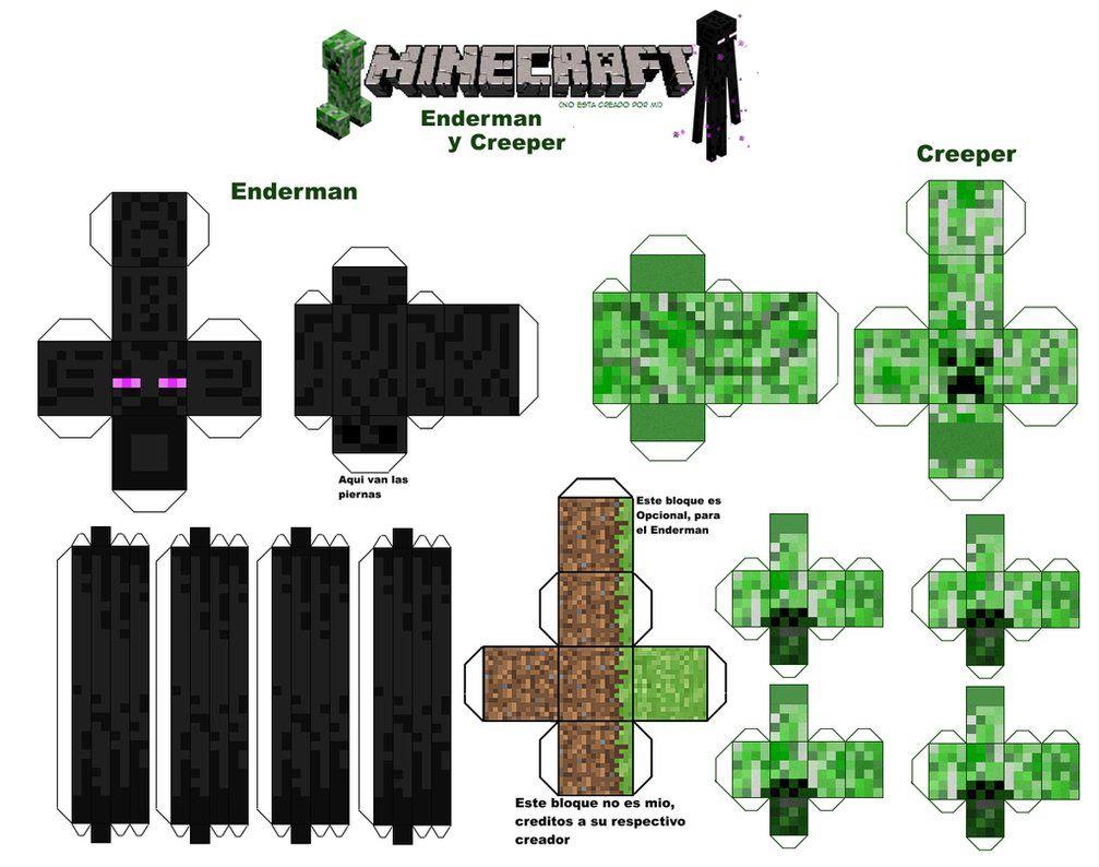 minecraft papercraft creeper gentleman pic 1 doocabcom proyectos