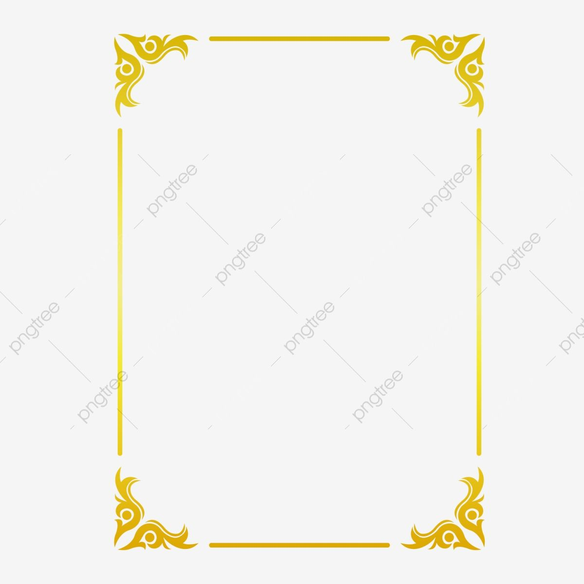Golden Border Warm Color Border Frame Picture Frame Gold Rectangle Clipart Hot Stamping Style Bronzing Border Png And Vector With Transparent Background For Clip Art Frames Borders Gold Graphic Design