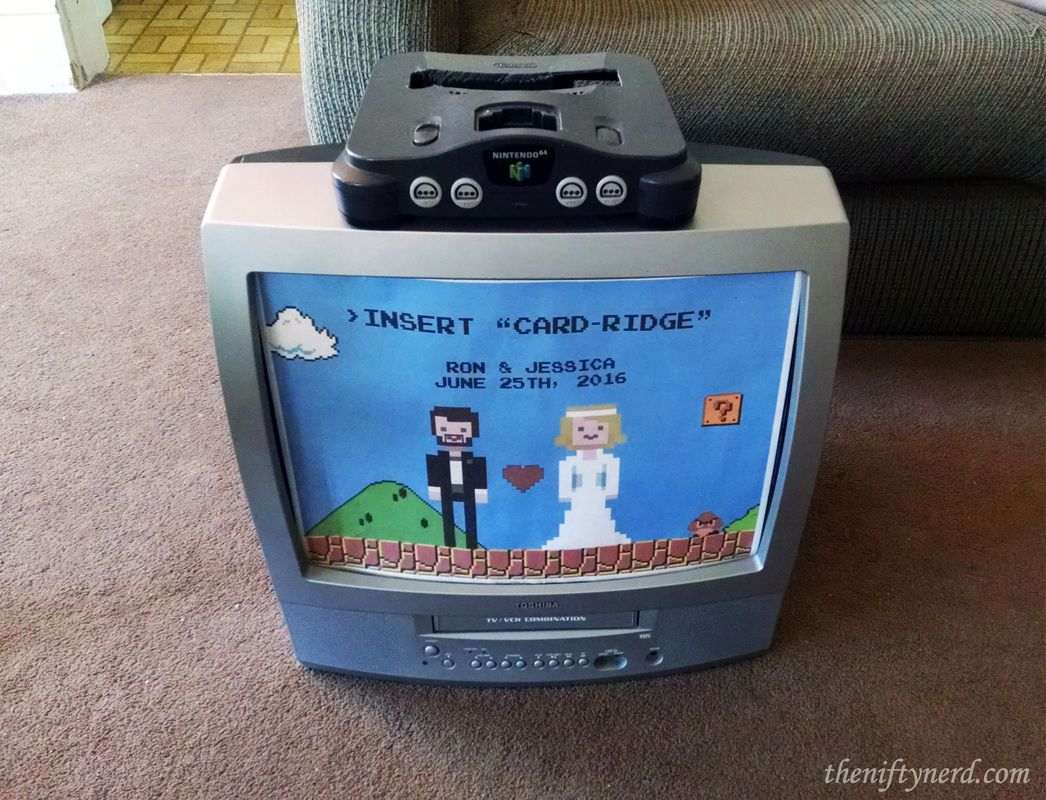 Nintendo Video Game Card Box