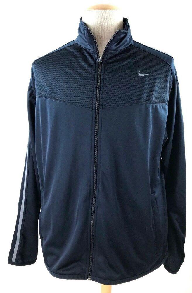 15ec5ae45b115c NIKE Mens Running Track Jacket Navy Size XL Breathable Reflective L S  Pockets  fashion  clothing  shoes  accessories  mensclothing  coatsjackets  (ebay link)