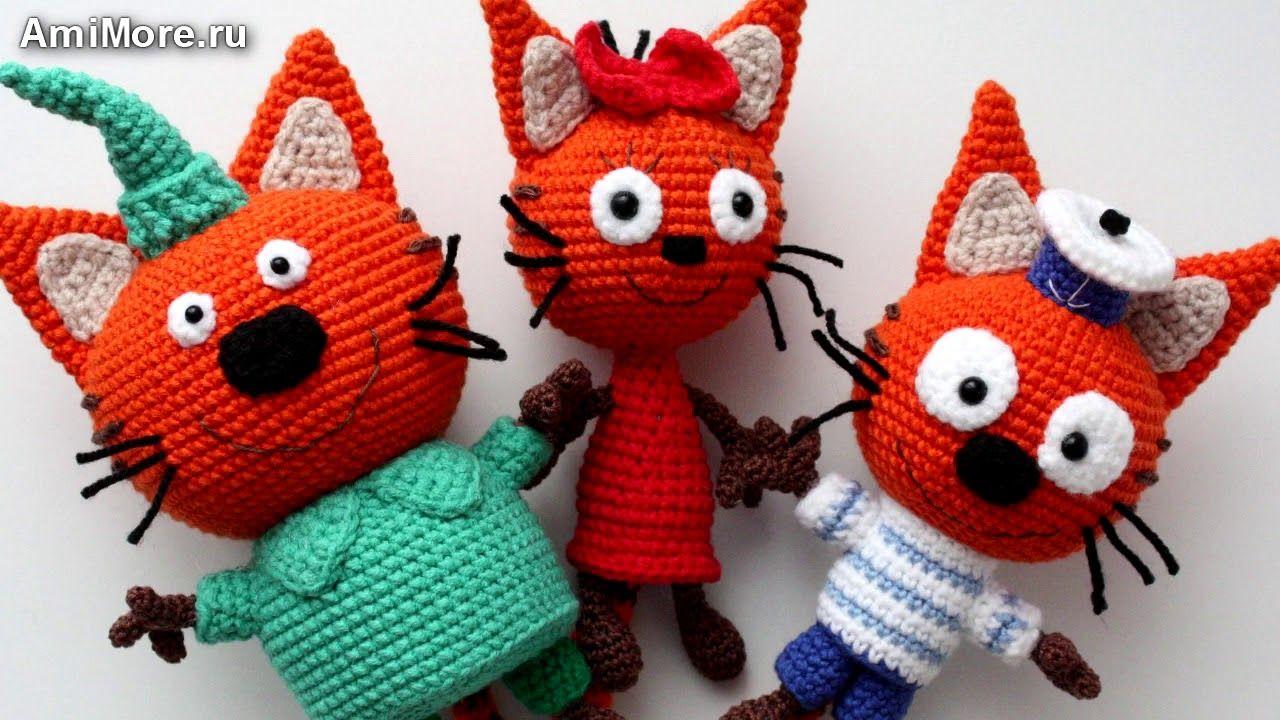 Схема игрушки кота вязанного