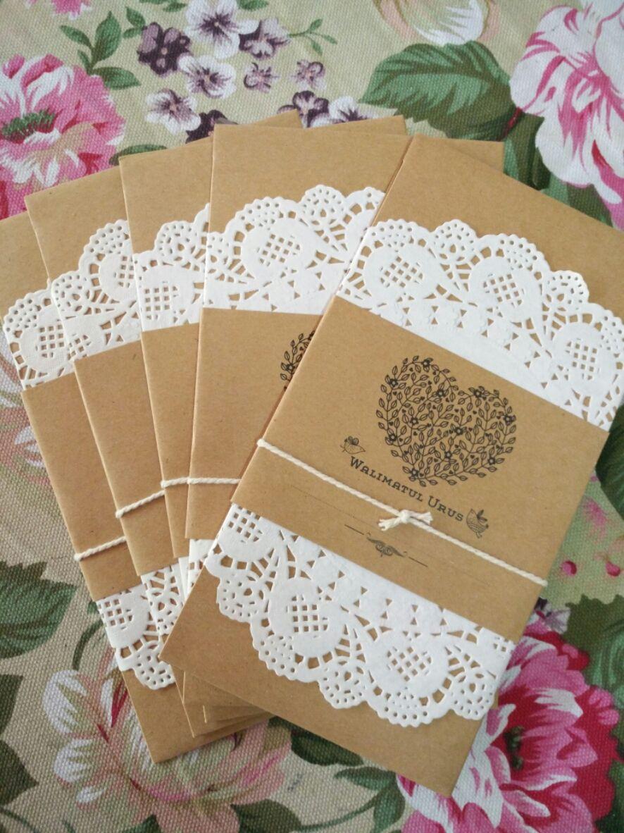 Kad Kahwin Craft Paper Pearl Design Kad Kahwin Wedding Cards