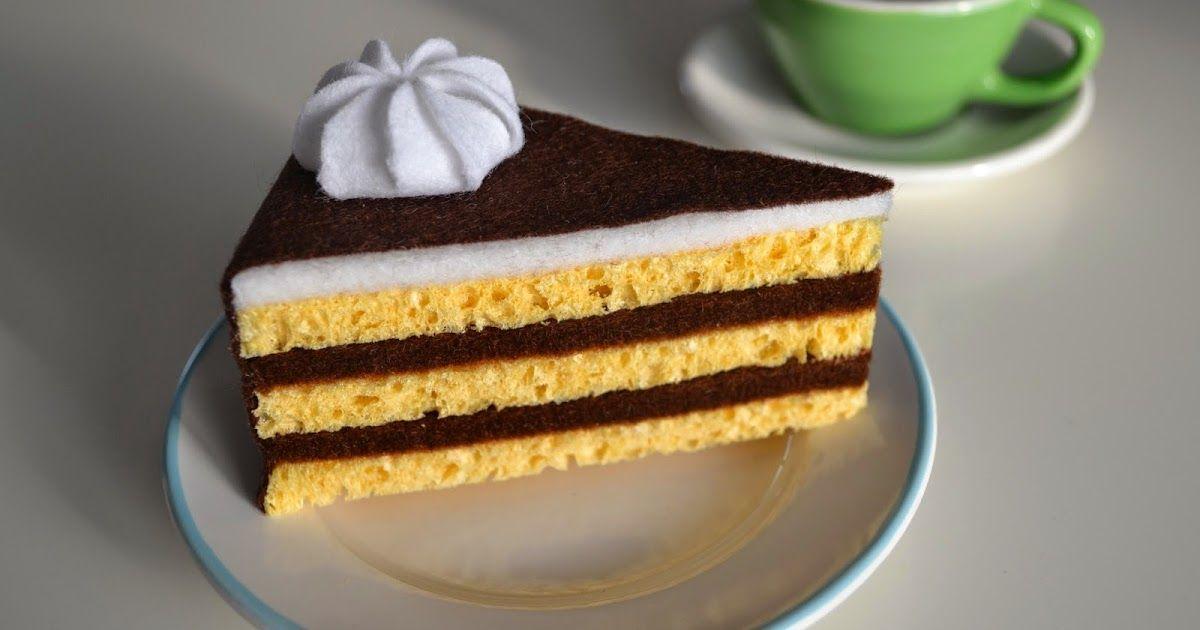 Torte aus Filz Sahnehaube aus Filz Vorlage Anleitung Sahne