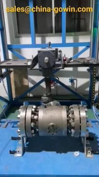 1000 times life test under full pressure for 6inch 900Lb ball valve, Zero lleakage with positive result. #ballvalve  #hydraulictest  #sealtest